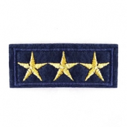 Patches Army Stars Blau-gold