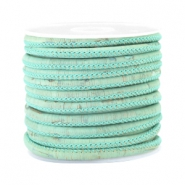 Trendy Kork gesteppt 4x3mm Vintage mint green