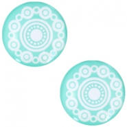 "Cabochon Basic  ""Zeeuwse knop"" (Trachtenknopf) 20mm Turquoise green"