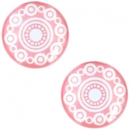 "Cabochon Basic  ""Zeeuwse knop"" (Trachtenknopf) 12mm Rose pink"