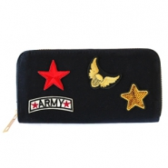 Trendy Portemonnaie mit Patches Army Black