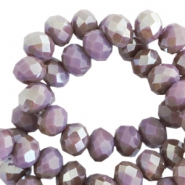 Top Facet Perlen 8x6 mm disc Dark lavender mist-half colorado topaz pearl high shine coating