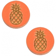 Holz Cabochon Ananas 12mm Orange