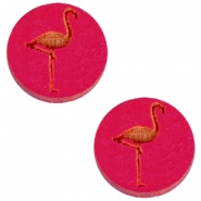 Holz Cabochon Flamingo 20mm Dark fuchsia
