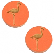 Holz Cabochon Flamingo 12mm Orange