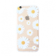 Telefon Hüllen für iPhone 6 Daisies Transparent-white yellow