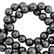 Hematite Perlen rund 4mm Anthracite grey