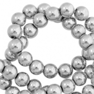 Hematite Perlen rund 8mm Light grey
