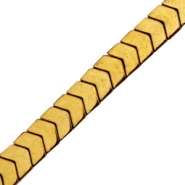 Hematite Perlen Arrow Gold