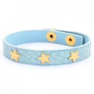 Armband Reptile mit Nieten gold Stern Light blue