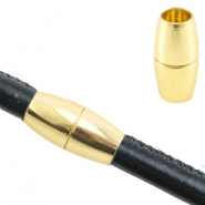 Basic quality Metall Magnetverschluss Ø 5mm Gold