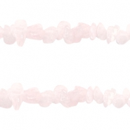 Chips Steine Perlen Light rose quartz
