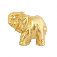 DQ acryl Perlen Metall Look Elefant Gold