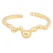 Trendy Ringe Dots Gold
