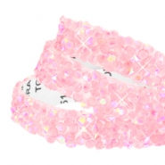 Crystal Diamond tape 10mm Light pink diamond coating