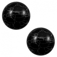 Cabochon Basic Stone Look 20mm Black