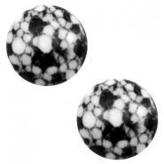 Cabochon Basic Stone Look 12mm Black-white