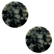 Cabochon Basic flach Stone Look 20mm Black-green