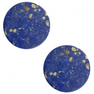 Cabochon Basic flach Stone Look 20mm Blue-gold