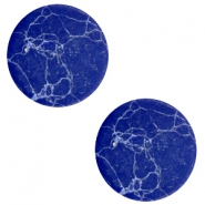 Cabochon Basic flach Stone Look 20mm Blue-white
