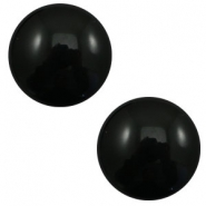 12 mm classic Cabochon Polaris Elements pearl shine Black