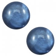 12 mm classic Cabochon Polaris Elements pearl shine Night blue