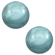 12 mm classic Cabochon Polaris Elements pearl shine Dark sea blue