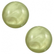 12 mm classic Cabochon Polaris Elements pearl shine Salvia green