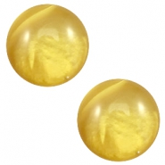 12 mm classic Cabochon Polaris Elements pearl shine Spicy mustard green