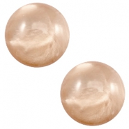 12 mm classic Cabochon Polaris Elements pearl shine Hazel brown