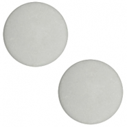 12 mm flach Cabochon Polaris Elements matt Light cloudy grey