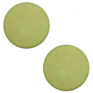 7 mm flach Cabochon Polaris Elements matt Salvia green