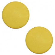 20 mm flach Cabochon Polaris Elements matt Spicy mustard green