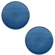 7 mm flach Cabochon Super Polaris Night blue