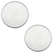 12 mm flach Cabochon Super Polaris Light cloudy grey