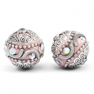 Bohemian Perlen 20mm Light pink-silver