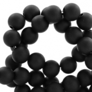 6 mm acryl Perlen Matt Deep black
