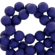6 mm acryl Perlen Matt Royal blue