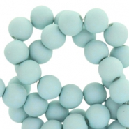 8 mm acryl Perlen Matt Aqua haze blue