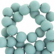 8 mm acryl Perlen Matt Dark aqua haze blue