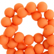 6 mm acryl Perlen Matt Vibrant orange