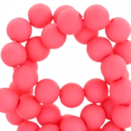6 mm acryl Perlen Matt Rouge red pink