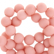 6 mm acryl Perlen Matt Light shell pink