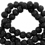 Sparkling beads 8mm Black