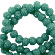 Sparkling beads 8mm Vintage green