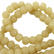 Sparkling beads 8mm Mustard green