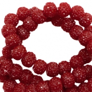 Sparkling beads 8mm Dark red