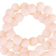 Sparkling beads 8mm Dusty pink