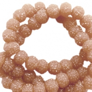 Sparkling beads 6mm Nude sierra brown