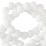 Sparkling beads 8mm White